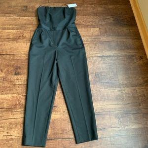 Theory TUXEDO WOOL blk size 6 3/4 romper pantsuit
